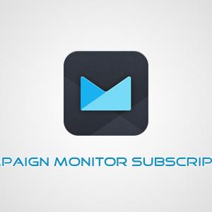 Campaign Monitor Subscription