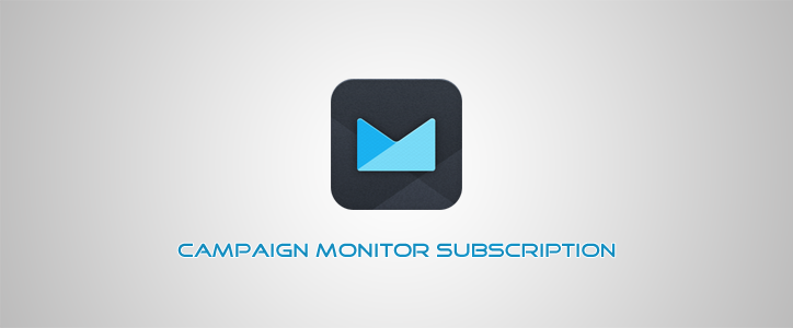 Campaign Monitor Subscription